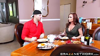 Spectacular MILF Diamond Foxxx having rough sex in a kitchen