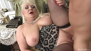 Chubby mature plays with the young dick in excellent scenes