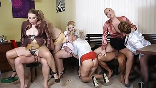 Crazy pornstars Amadea Emily, Gabrielle Gucci and Samantha Jolie in awesome mature, lingerie sexual congress instalment