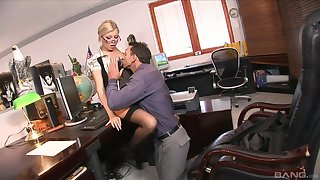 Jizzed on the glasses check b determine shacking up the boss in insane XXX