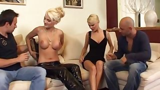 Two Arousing Pretty good Europeans Fucked In Foursome