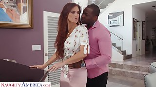 Terrifying lady with awesome huge spoils Syren De Mer loves riding BBC