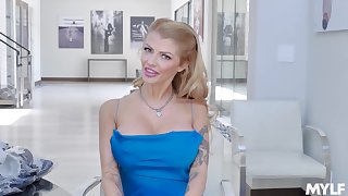 Unparalleled some kinky interview with hot blonde porn actress Joslyn James