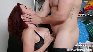 Busty ginger MILF secretary Andi James is used for some hard casual sex